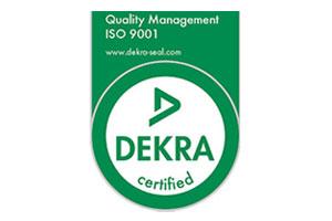 Dekra ISO 9001:2015 Quality Management Accreditation